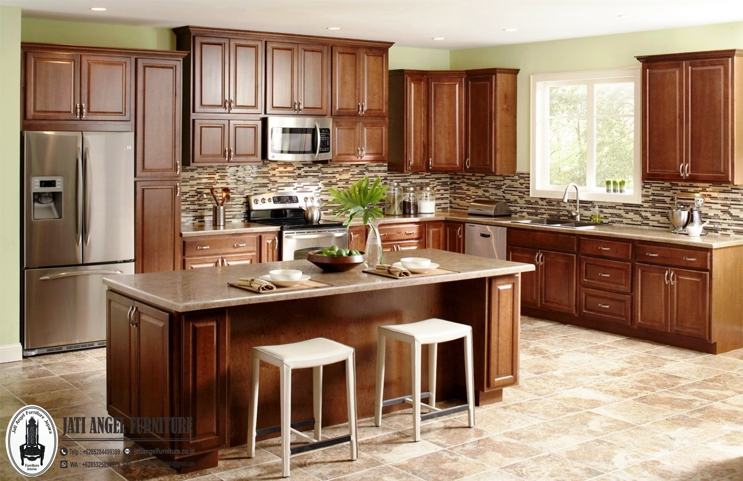 Kitchen Set Kayu Jati Jepara Minimalis Terbaru American Design Jati Angel Furniture